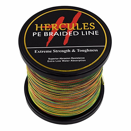 1000?m 1094yds Multicolor 6lbs-100lbs Hercules PE Geflochtene Angelschnur Spectra 4?Str?hnen, mehrfarbig -