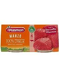 Plasmon Alimento per l'Infanzia, Omogeneizzato con Manzo e Cereale - 160 gr