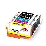Mony Compatible Cartuchos de tinta HP 364 XL 364XL (2 Negro, 1 Cian, 1 Magenta, 1 Amarillo) Compatible con HP Photosmart 7510 5520 5510 7520 6520 6510 5515 5525 B110 C310 Officejet 4620 Deskjet 3520 3070A Impresoras