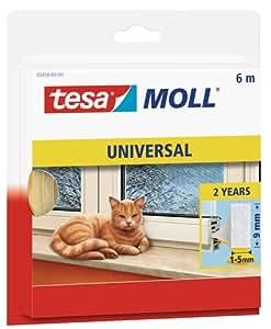 TESA Joint en mousse universel Tesamoll© 05428-100 blanc