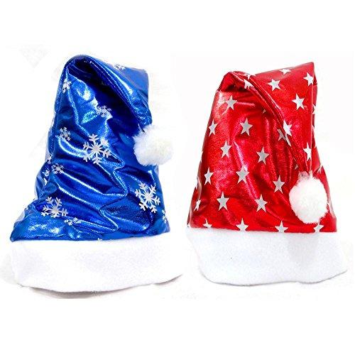 feiliandajj 2Pcs Erwachsene Weihnachten Party Santa Hat Kostüm Cap Einheitsgröße (Kostüme Anzug Santa Für Erwachsene Klassische)