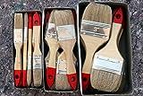 Pinsel Set bestehend aus 36 x Flachpinsel: Je 12 Stück in der Größe 25 - 50 - 75 mm - Lackierpinsel Industriepinsel Malerpinsel Waschpinsel