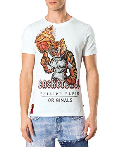 Philipp plein maglietta da uomo beau - bianco, xl