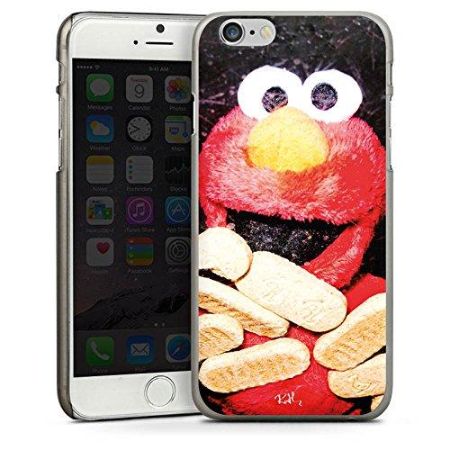 Apple iPhone 4 Housse Étui Silicone Coque Protection Oliver Rath Elmo Sesamstraße CasDur anthracite clair