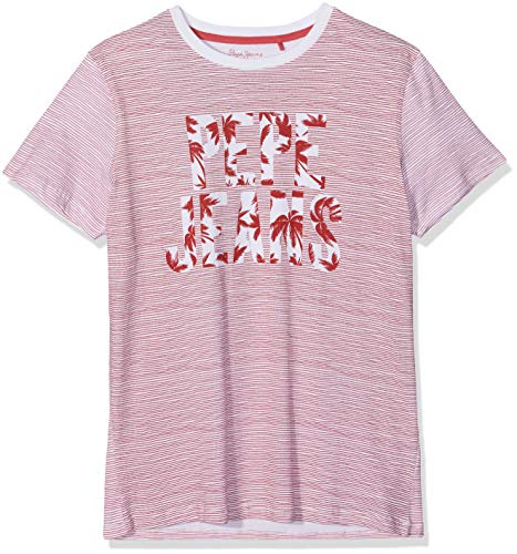 Pepe Jeans Herren Jack T-Shirt, Rot (Pepper Red 254), Large