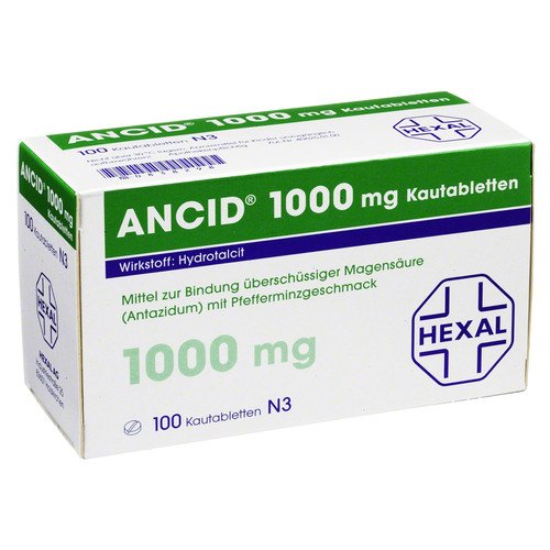 ANCID 1000 mg, 100 St. Kautabletten - 1000 Mg Kautabletten