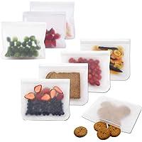 QiBest Barattolo Riutilizzabile Sigillo Impermeabile Borsa per Alimenti freschi Snack Borse a Chiusura Lampo Coperchi antischizzo