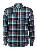 Wrangler Herren Hemd Button Down - Blau - Green Room, Größe:M, Farbe:Blue Bay (W5874T2VG)