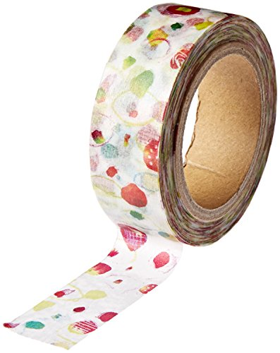RoundTop Designer Washi Masking Tape 15 mm x 10 m Space Craft Dekoratives Masking Tape, Polka Dot (SC-MK-012)