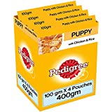 Pedigree Gravy Puppy Food, Chicken And Rice In Jelly, 100 G Pouch (Pack Of 4)