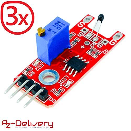 AZDelivery ⭐⭐⭐⭐⭐ 3 x KY-028 Thermistor Temperatursensor für Arduino -