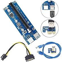 Mini PCI-E USB3.0 1 x A 16 x Minerario Extender riser card adattatore con connettore SATA 15pin-4pin cavo di alimentazione