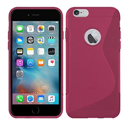 Apple iPhone SE - TPU Schutzhülle S-Style S Design Case Schutz Cover Etui Hülle in Weiß - RT-Trading Pink