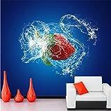Xbwy Personalizzato 3D Murale, Sfondi Alimentari Spray Fragola Papel De Parede, Ristorante Cucina Soggiorno Divano Tv Parete Carta Da Parati-400X280Cm