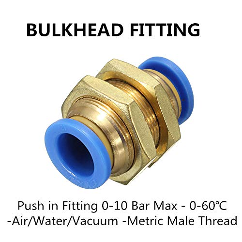 Luft-schlauch-schalter (ChaRLes Pneumatische Steckverbinder Pneumatische Push-In Fittings Für Luft/Wasserschlauch Und Schlauch Alle Größen Erhältlich - Typ 5-8Mm)