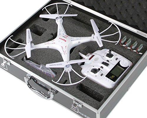 HMF 18301-02 Transportkoffer, Koffer passend für X5C , X5SC , X5 Syma Drohne, bis zu 5 Akkus, 42,5 x 33,5 x 11,5 cm, schwarz - 2