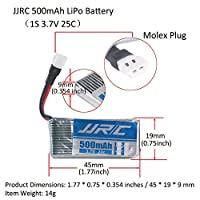 4PCS JJRC LiPo Battery 500mAh 1S 3.7V 20C with Molex Plug + 1PCS 4 in 1 3.7V RC Battery Charger for JJRC H43WH , H107L H107C H107D H107P H108 , U818A , Walkera Super CP , V252 , JXD385 etc by LITEBEE