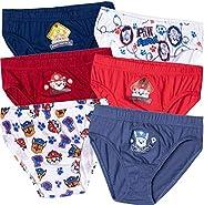 Nickelodeon - Bragas de ropa interior para niños (6 unidades, 100% algodón, 2 a 8 años)