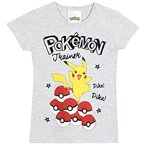 Pokemon - T-Shirt à Manches Courtes - Pokemon - Fille - 7 a 8 Ans