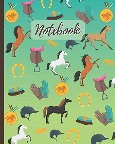 Notebook: Horse Racing & Equestrian Sport - Lined Notebook, Diary, Track, Log & Journal - Cute Gift for Kids, Teens, Men, Women Who Love Horse Riding (8