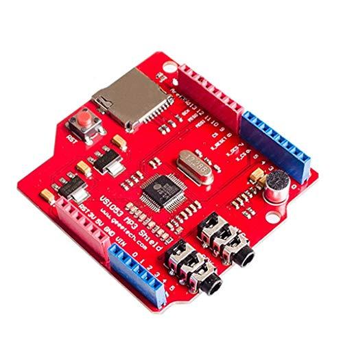 Junecat VS1053 MP3-Modul Ersatz für Arduino R3 Ausbruch-Brett SD-Karten-Slot VS1053B Echtzeit-Aufnahme