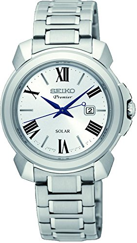 Seiko Damen Analog Solar Uhr mit Edelstahl Armband SUT321P1 - Solar Uhr Seiko Damen