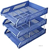 Cartshopper Office Stationery 3 Layer Plastic Desk Organizer File Tray,File Basket,Office Files/Letter Tray/Document Tray