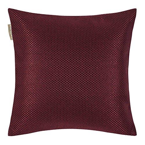 MADURA Coconut Enveloppe de Coussin Polyester Bordeaux 40 x 40 cm
