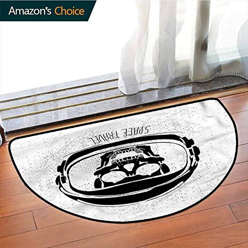 erteppich, halbrund, Cartoon-Muster, Halloween-Design, Phthalatfrei, Teppiche für Büro, Stehtisch, halber Kreis, Color-09, Semicircle-W47.2