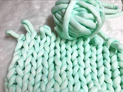 Super Chunky Vegan Garn, Acryl klobigen Dick Roving waschbar Softee Chunky Jumbo Garn für Arm Stricken DIY Kit handgefertigt Decken Teppiche macht 20m mint -