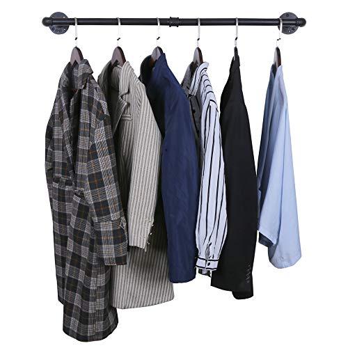 OROPY Estante de ropa de barra de ropa montado en la pared ¿Estás buscando un perchero para ropa pesada? ¿Quieres guardar tu ropa sin ocupar mucho espacio? OROPY Perchero  puede ser tu mejor opción! 1. Diseño vintage, adecuado para la decor...