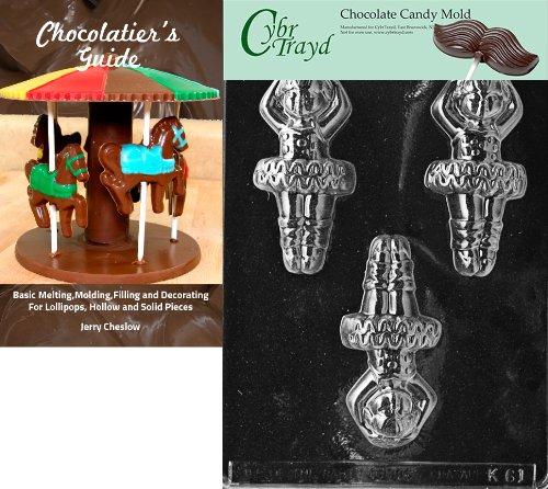 Ballerinas Schokolade (Cybrtrayd bk-k061Ballerina Kinder Schokolade Candy Form mit Chocolatier 's Guide Anweisungen Buch Handbuch)