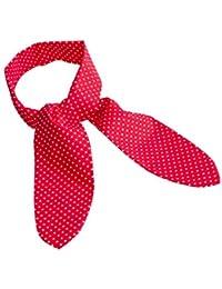 Rotes Nickituch mit weissen Punkten als Halsband