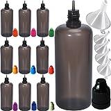 Eliquid contagocce bottiglia Ago bottiglia bottiglia di plastica in PE Eliquid bottiglia condimento bottiglia Prolungare eLiquid da schermatura fuori (ultravioletti) luci UV dannosi (10pcs colore misto)