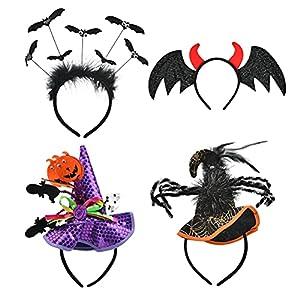 TIMESETL Diadema para Halloween, calabaza,