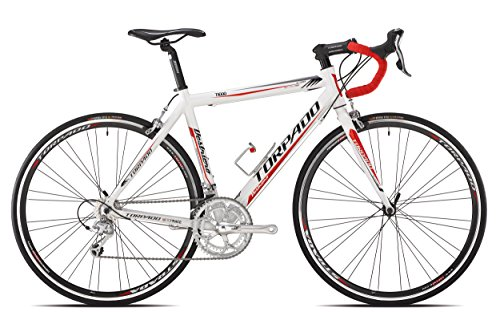 TORPADO BICICLETA CORRER DESTRIERO 9 V ALU TALLA 54 BLANCO ROJO (CORSA STRADA)/BICYCLE ROAD DESTRIERO 9S ALU SIZE 54 WHITE RED (ROAD RACE)