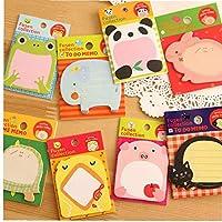 8 Pcs Animal Memo Pad Mini Sticky Notes Panda Duck Cat Sticker Post Stationery Office School Supplies