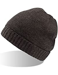 JAC-2 Strickmütze Wollmütze Wintermütze Mütze gestrickte Wintermützen Herrenmütze Skimütze Snowboardmütze grau schwarz braun weiß (wollweiß)