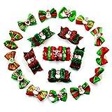 Jinghai 20 PZ Natale Cappello da Babbo Natale Cucciolo di cane Capelli Fiocco Forcina Animali Accessori Mascotas Perro Forniture per animali domestici Per Natale-colore casuale