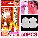 SODIAL(R) 50pcs Disposable Sweat Pad Antiperspirant Underarm Armpit Guard Sheet Shield