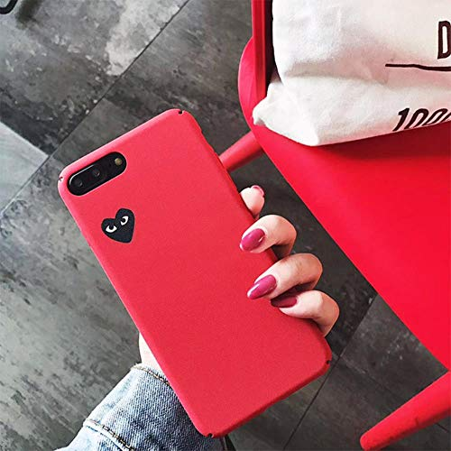 38bc7afb19716 Qinddoo Luxury Brand CDG Play Comme Des Garcons Love Heart Matte Case Phone  Cover For iPhone 6 s 7 8 Plus X XR XS MAX 10 Hard Case-Red,For iPhone 8 ...