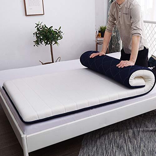Materasso singolo in lattice, tessuto domestico tessili futon materasso memory cotone tatami cuscino biancheria da letto addensato dormitorio for studenti 35.43x74.80in tappetino