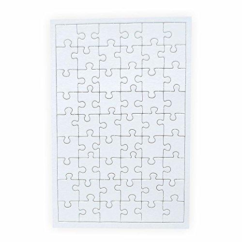 Puzzle zum bemalen Viereck 54 Teile 10 Stück zum selbst gestalten mit Rahmen