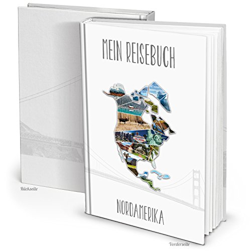 Leeres DIY XXL Kontinent NORD-AMERIKA Reise-Tage-Buch zum selber-schreiben-gestalten-machen DIN A4 mit 164 Blanko-Seiten - ein tolles Geschenk zu Weihnachten und Geburtstag.