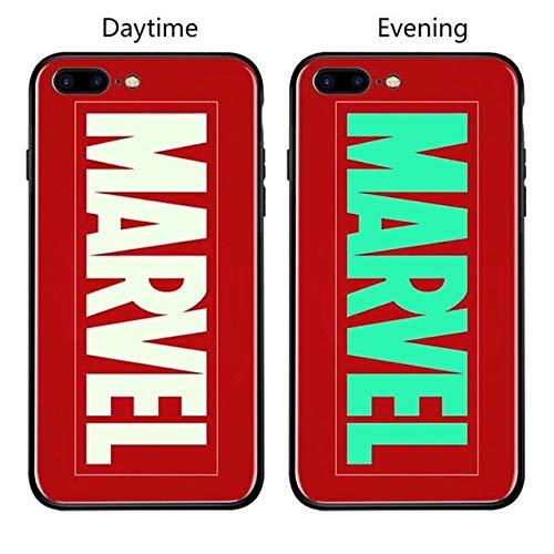 Marvel Batman Superman Iron Man Lumineux en Verre Coque pour iPhone 7866S Plus X XS Max XR Avengers Spiderman panthère Noire Coque for iPhone XS Max Kaki foncé