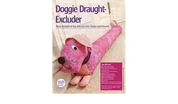 Doggie Draught Excluder Sewing Pattern: Measurements 19cm tall x ...