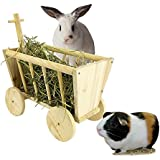 Beaks And Paws B&P Cute Hay Rack Stroller Made Of Real Wood For Bunny Chinchillas Guinea Pigs And Other Small Animal Pet (L)