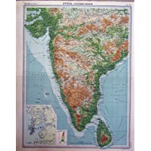 Carte De Linde Mysore.Amazon Fr Carte Routiere Inde Du Sud Livres