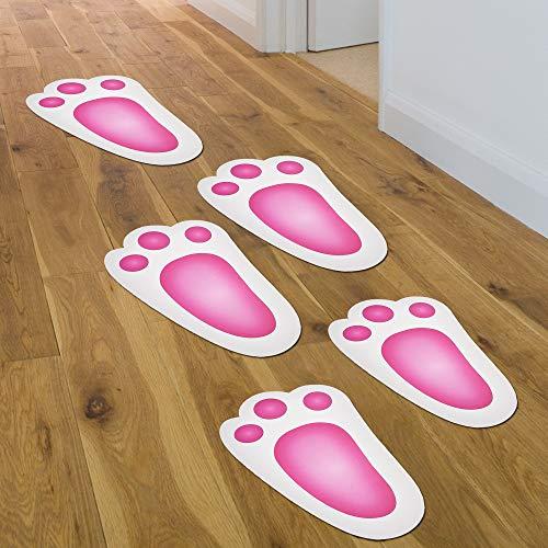 The twiddlers 60 impronte di coniglio - ideale per caccia alle uova di pasqua e caccia al tesoro - accessorio decorazione divertente feste per bambini. gioco per interni esterni