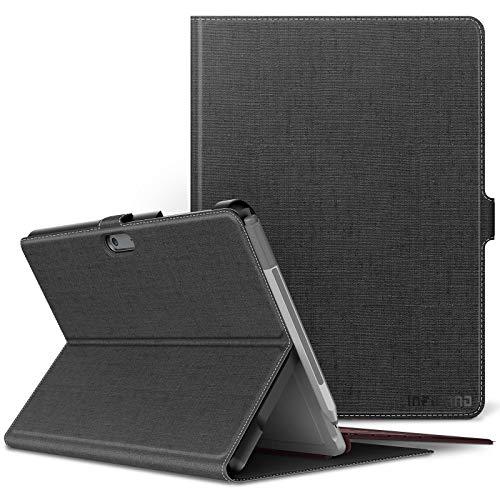 Infiland Microsoft Surface Go Hülle, Licht Vordere Unterstützung Schutzhülle Cover Tasche für Surface Go (10 Zoll) Tablet-PC(Tablet,Tastatur & Bleistift Sind Nicht Enthalten),Grau